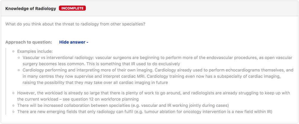 Radiology Answer