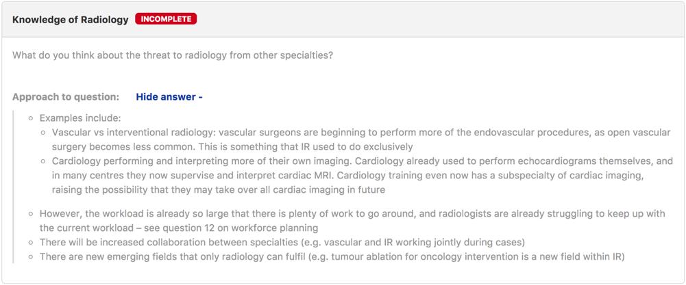 Radiology Answer